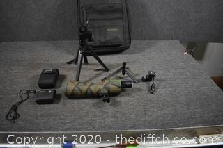 Bushnell Spotting Scope w/backpack