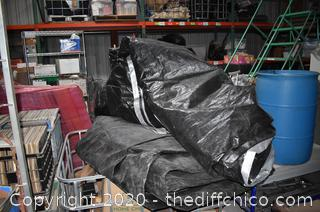 2 Super Lrg and Heavy Tarps-will cover floor of 3 basketball courts