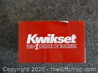 Kwikset Door Knob New