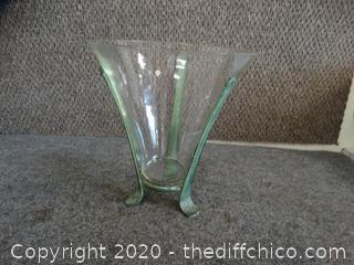 Glass Vase In Holder
