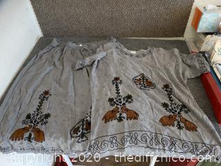 Womens Nancy K Shirt & Skirt