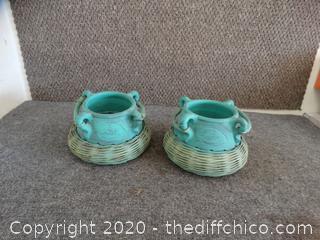2 Pottery Pots
