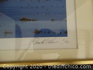 #4 of 250 Sandhill Cranes 2010 signed framed