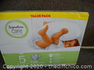 New Box Of Signature Care Diapers Size 5