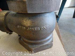Vintage Solid Brass  James Jones  Fire Hydrant Valve
