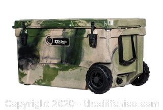 Elkton Outdoors 70 Quart Performance Rolling Ice Chest- Camo (J1)