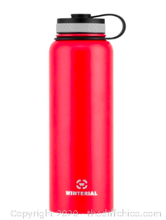 Winterial 40oz Stainless Steel Water Bottle - Red (J6)
