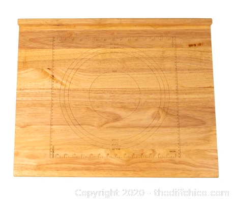The Difference Auction Another Treasure March 2020 Item Zelancio Reversible Wooden Pastry Board J8