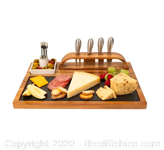 Zelancio Slate Cheese Board, 12 Piece Charcuterie Set (J12)