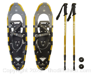 Winterial Highland 30-Inch Snowshoes - Gold - Includes Poles and Case (J13)