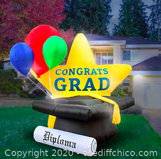 Holidayana 8-Foot Inflatable Graduation Star Decoration (J15)