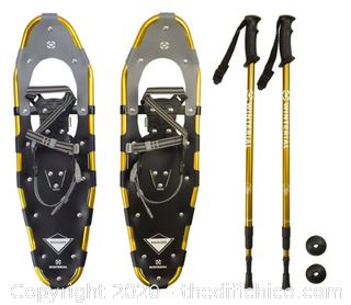 Winterial Highland 30-Inch Snowshoes - Gold - Includes Poles and Case (J17)