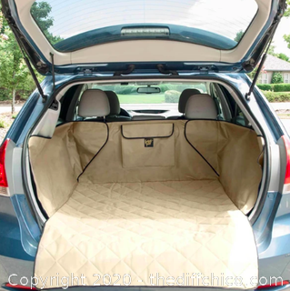 Frontpet SUV Pet Cargo Liner With Quilted Top - Tan (J22)