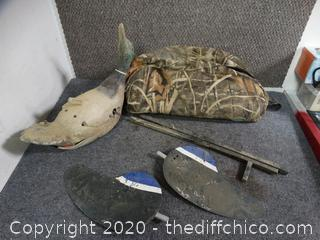 Camo Bag With Duck Decoy
