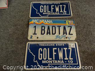 Montana License Plates