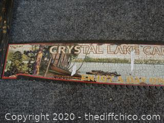 Crystal Lake Canoe Rental Wall Sign