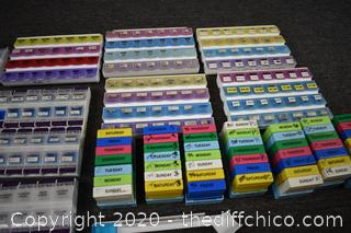 Lot of Pill Sorters