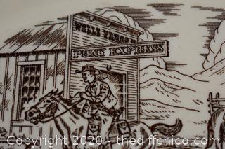 Vintage Pony Express Plate