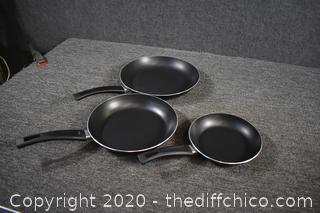 3 Fry Pans