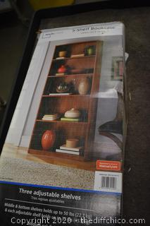 5 Shelf Bookcase w/box