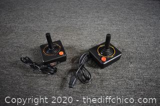 2 Atari Joy Sticks