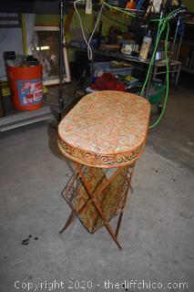 Metal Folding Table / Magazine Rack