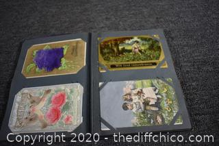 Book of Vintage Collectible Postcards-most cards over 100 years old