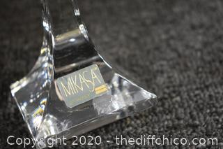 Mikasa Crystal Candle Holders and Bowl