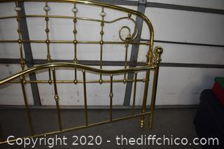Brass Headboard and Footboard