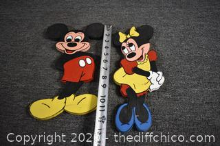 Mickey and Minnie Mouse Wall Plaques
