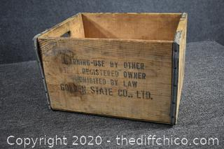 Wood Crate