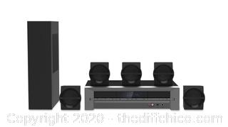 NEW Blackweb 1000-watt 5.1 Channel Receiver Home Theater System with Bluetooth