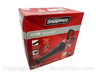 NEW SEALED Snapper 135 MPH 650 CFM Full Crank 2-Cycle 27cc Gas Blower with Electric Starting