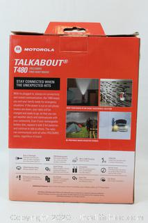 Motorola Talkabout T480 FMS/GMRS Two Way 22 Channel Emergency Radio NOAA