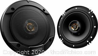 """Kenwood KFC-1666R - Road Series 6-1/2"""" 2-Way Car Speakers Pair - Black"""