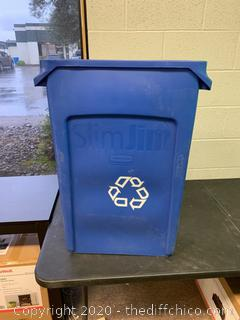 Slim Jim Blue Recycling Bins - Set of 4 (J50)