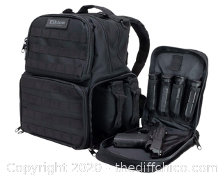 Elkton Outdoors Pistol Range Backpack (J85)