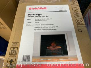 STYLEWELL BARKRIDGE INFRARED ELECTRIC LOG SET (101)