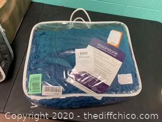 Moonstone Premium Weighted Blanket in Minky Duvet Cover - 15 lb. Blue (J123)