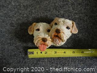 2 Dog Bosson Wall Decor made In England
