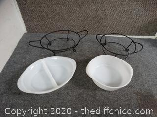 2 Serving Dishes