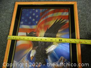USA Flag With Eagle Picture