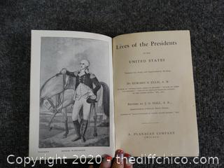1887 Lives Of The Presidents Book