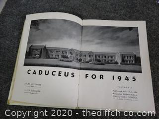 1945 Caduceus Chico High year Book