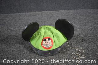 Vintage Mickey Mouse Club Hat - size Small