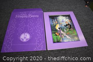 Sleeping Beauty Disney Store Lithograph