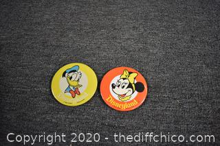 2 Collectible Disneyland Pins