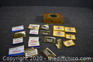 Vintage Labels and Cigar Box