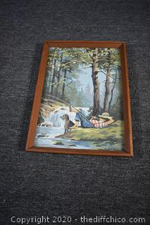 Framed Original Paint by Numbers