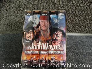 John Wayne 5 VHS SET